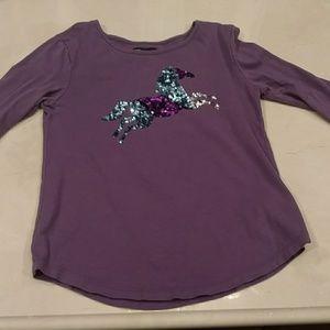 Gap Kids sequin horse shirt